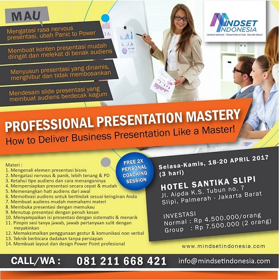 Mindset Indonesia Training - Professional Presentation Mastery Class