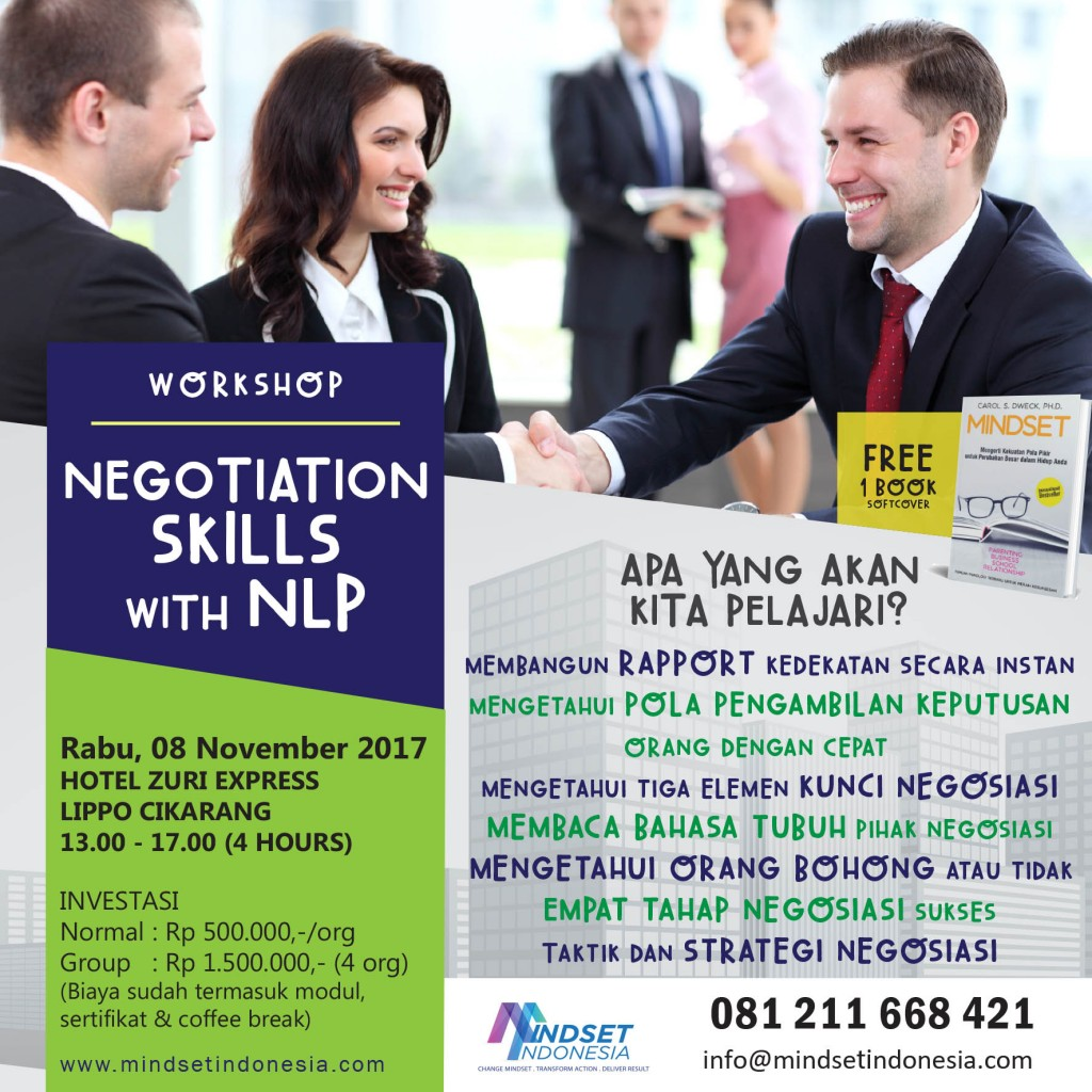 NEGOTIATION SKILL WITH NLP - MINDSET INDONESIA TRAINING