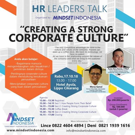 HR Leaders Talk -MINDSET INDONESIA TRAINING